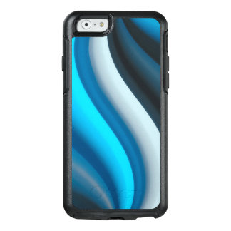 Abstract Art Blue Waves OtterBox iPhone 6/6s Case