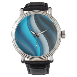 Abstract Art Blue Waves Watch
