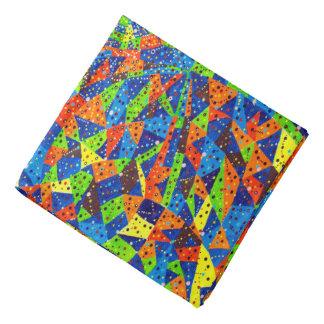 Abstract Art Bright And Colorful Dotted Mosaic Bandana