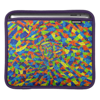 Abstract Art Bright And Colorful Whirls iPad Sleeve