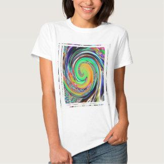 Abstract Art Bright Neon Whirlpool Vortex Shirt