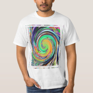 Abstract Art Bright Neon Whirlpool Vortex Tee Shirt