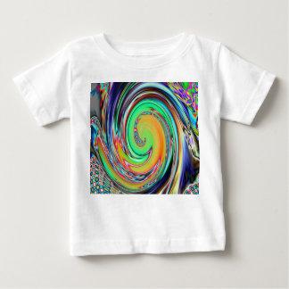 Abstract Art Bright Neon Whirlpool Vortex Tshirt