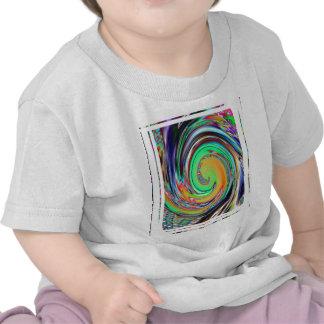 Abstract Art Bright Neon Whirlpool Vortex T Shirts