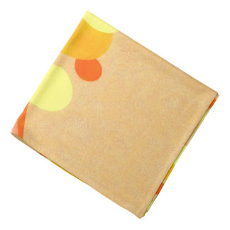 Abstract Art Brown Background Yellow And Orange Ci Bandana