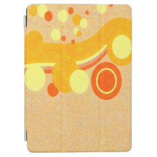 Abstract Art Brown Background Yellow And Orange Ci iPad Air Cover