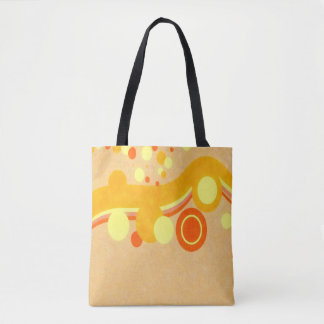 Abstract Art Brown Background Yellow And Orange Ci Tote Bag