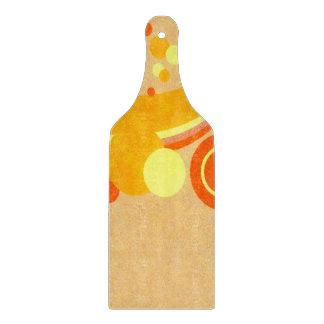 Abstract Art Brown Background Yellow And Orange Cutting Board