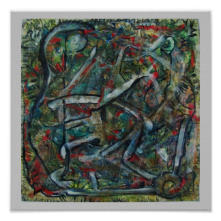 Abstract Art by ValAries Pachydermatous Poster