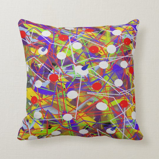 Abstract art canvas throw pillow