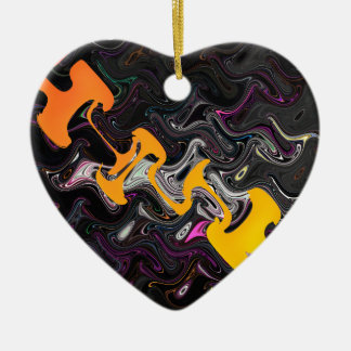 Abstract Art Ceramic Heart Decoration
