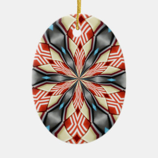 ABSTRACT ART CERAMIC OVAL DECORATION