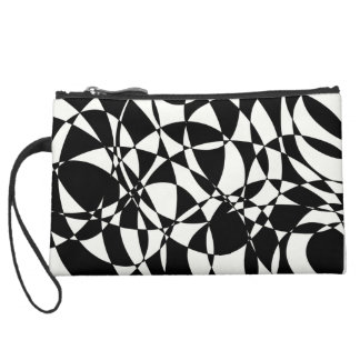 Abstract art chaotic design wristlet