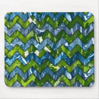 Abstract Art Chevron Design Mouse Mat