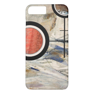 abstract art collage, mixed media and watercolor 3 iPhone 8 plus/7 plus case