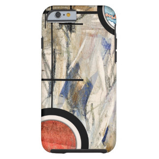 abstract art collage, mixed media and watercolor 3 tough iPhone 6 case