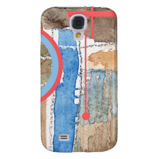 abstract art collage, mixed media and watercolor 5 galaxy s4 case