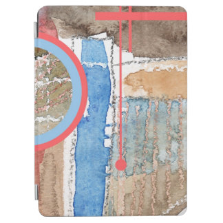 abstract art collage, mixed media and watercolor 5 iPad air cover
