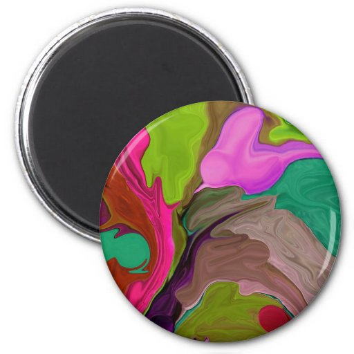 Abstract art collectible magnet