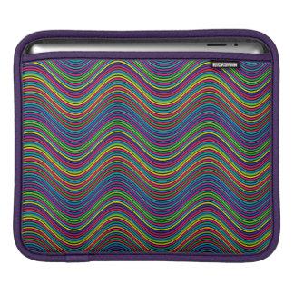 Abstract Art Color Decorative Wavy Lines iPad Sleeve