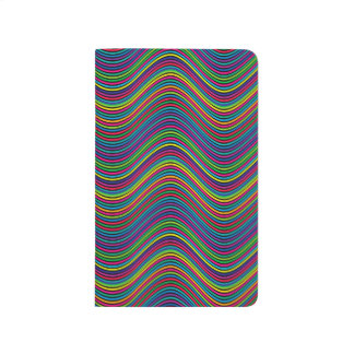 Abstract Art Color Decorative Wavy Lines Journal