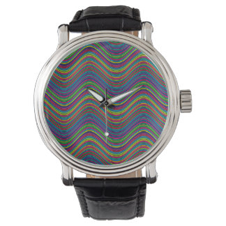 Abstract Art Color Decorative Wavy Lines Watch