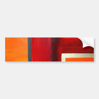 Abstract Art Color Fields Orange Red Green Gold Bumper Sticker