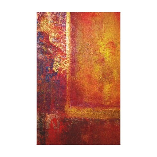 Abstract Art Color Fields Orange Red Yellow Gold Stretched Canvas Prints