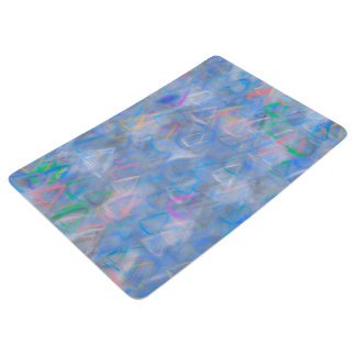Abstract Art Colored Triangles Floor Mat