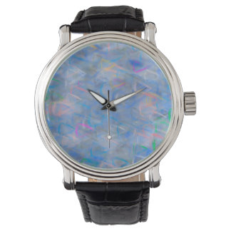 Abstract Art Colored Triangles Watch