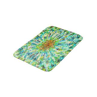 Abstract Art Colorful Green Splatter Background Bath Mat
