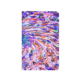 Abstract Art Colorful Purple Whirl Background Journal