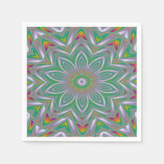 Abstract Art Concentric Design Disposable Napkins