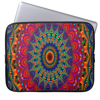 Abstract Art Concentric Design Laptop Sleeve