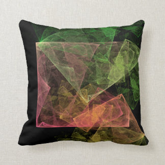 Abstract Art Cubic Space Throw Pillow