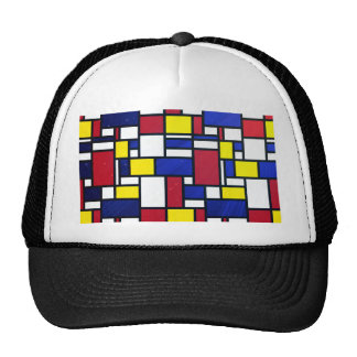 Abstract art, cubism, colorful, modern,fun,chic hats