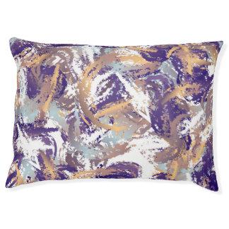 Abstract Art Custom Indoor Dog Bed - Large