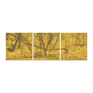 Abstract art Desert sand sunset tree Canvas Print