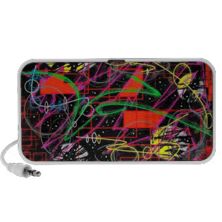 Abstract Art Design Mp3 Speakers