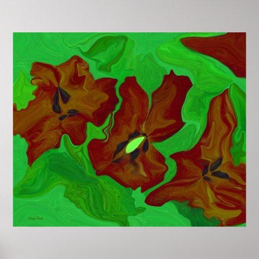 abstract art digital original design flower print