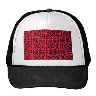 Abstract  Art Digital Red Floral Colors, Shapes St Cap