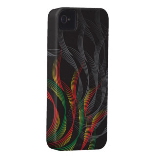 Abstract Art Digital Red Waves iPhone 4 CaseMate iPhone 4 Covers