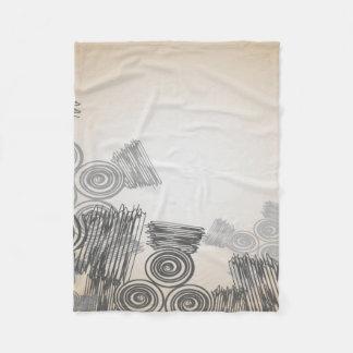 Abstract Art Doodles Background Fleece Blanket