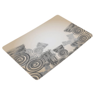 Abstract Art Doodles Background Floor Mat