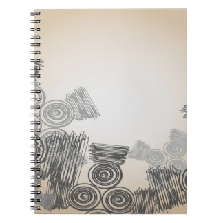Abstract Art Doodles Background Notebooks