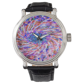 Abstract Art Doodles Background Watch