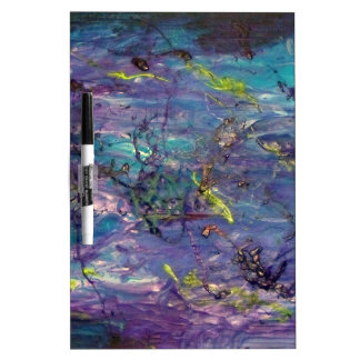 Abstract Art Dry Erase Board