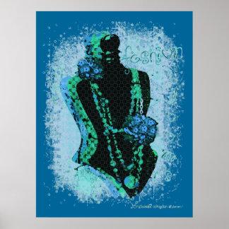 Abstract Art Fashion Poster Print