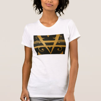 Abstract art fashion T-shirt. Tee Shirt
