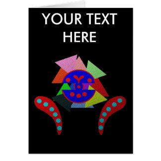 ABSTRACT ART FESTIVAL 2011 GREETING CARD
